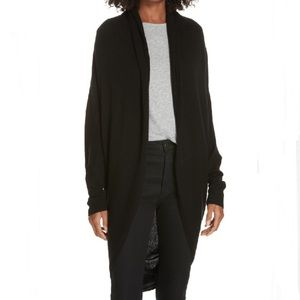 NWT Theory Cashmere Open Front Curved Hem Cardigan